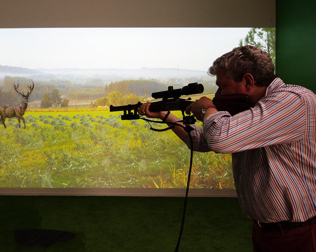 Simulateur de chasse au gros gibier Au Coureur des Bois