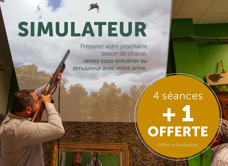Offre simulateur de tir : 4 séances + 1 offerte