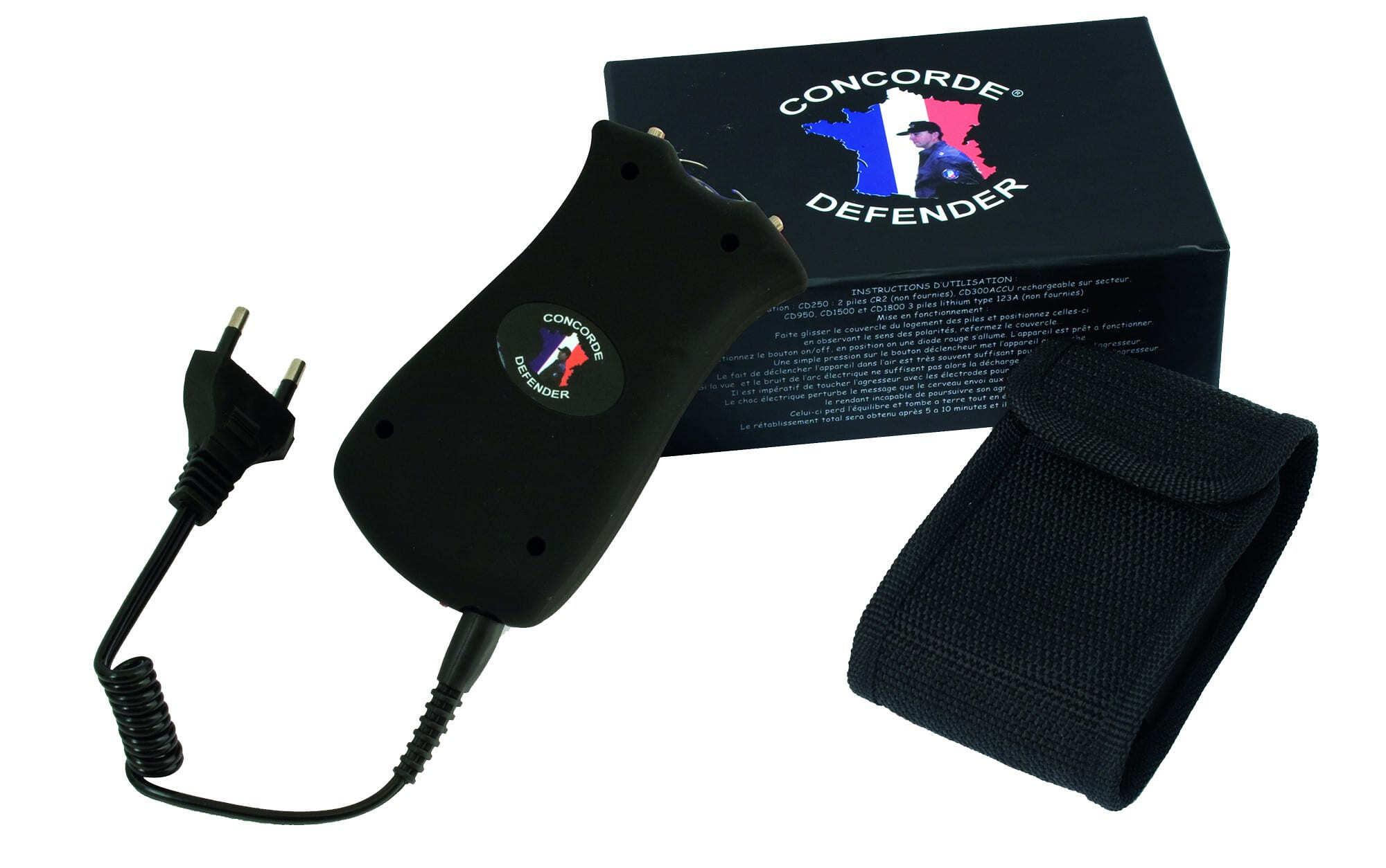 CONCORDE DEFENDER ELECTROCHOC / LAMPE (rechargeable)